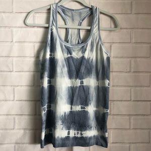 Lululemon Swiftly Gray Tie Dye Printed Tank Top